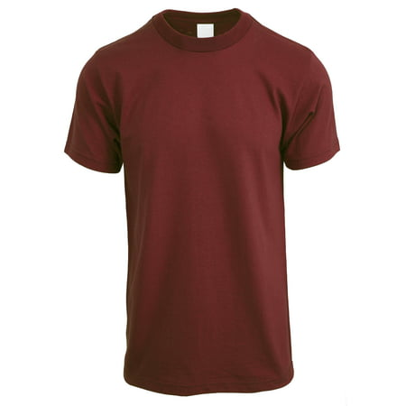 Ma Croix Mens Crew Neck Short Sleeve Tee Solid Plain Cotton T Shirt Big and Tall Size Available