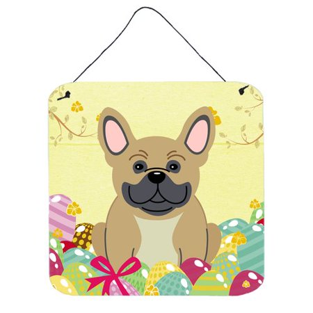 The Holiday Aisle Easter Eggs Cream French Bulldog Wall D - Halloween Cream Eggs Uk