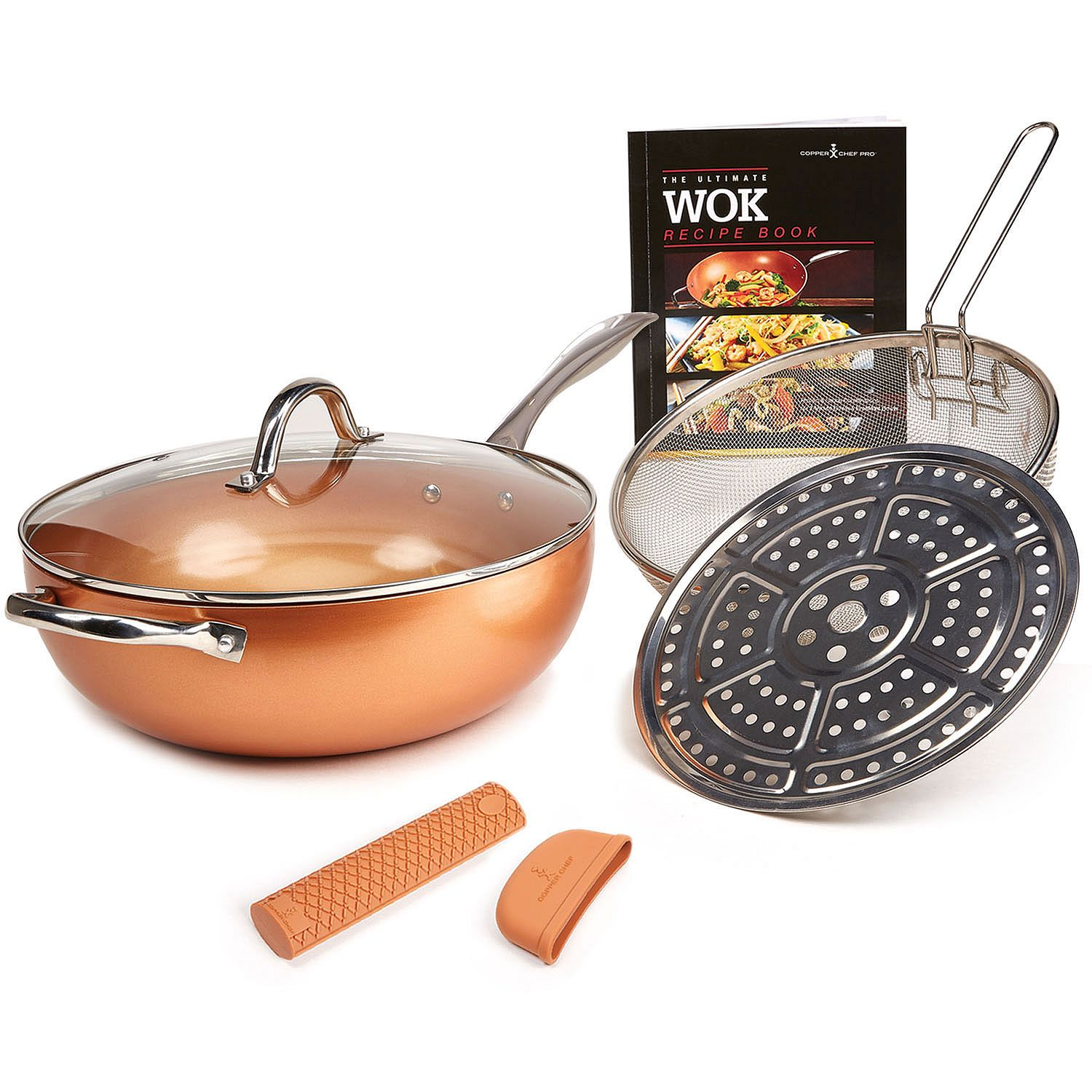 Copper Chef Pro XL Wok Set, 12""