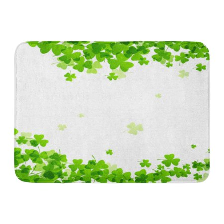 GODPOK Clover White Patrick of St Patrick's Day Green Irish Shamrock Rug Doormat Bath Mat 23.6x15.7 - Shamrock Door