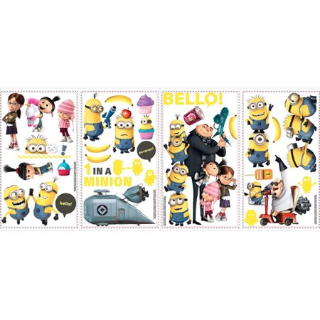 Minion Wall Decals (RoomMates Despicable Me 2 Wall)