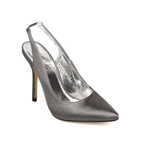 New Women Camille SGL1477-4 Satin Pointy Toe Slingback Stiletto Pump