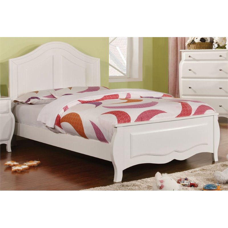 Furniture of America Palon Full  Panel Bed in White