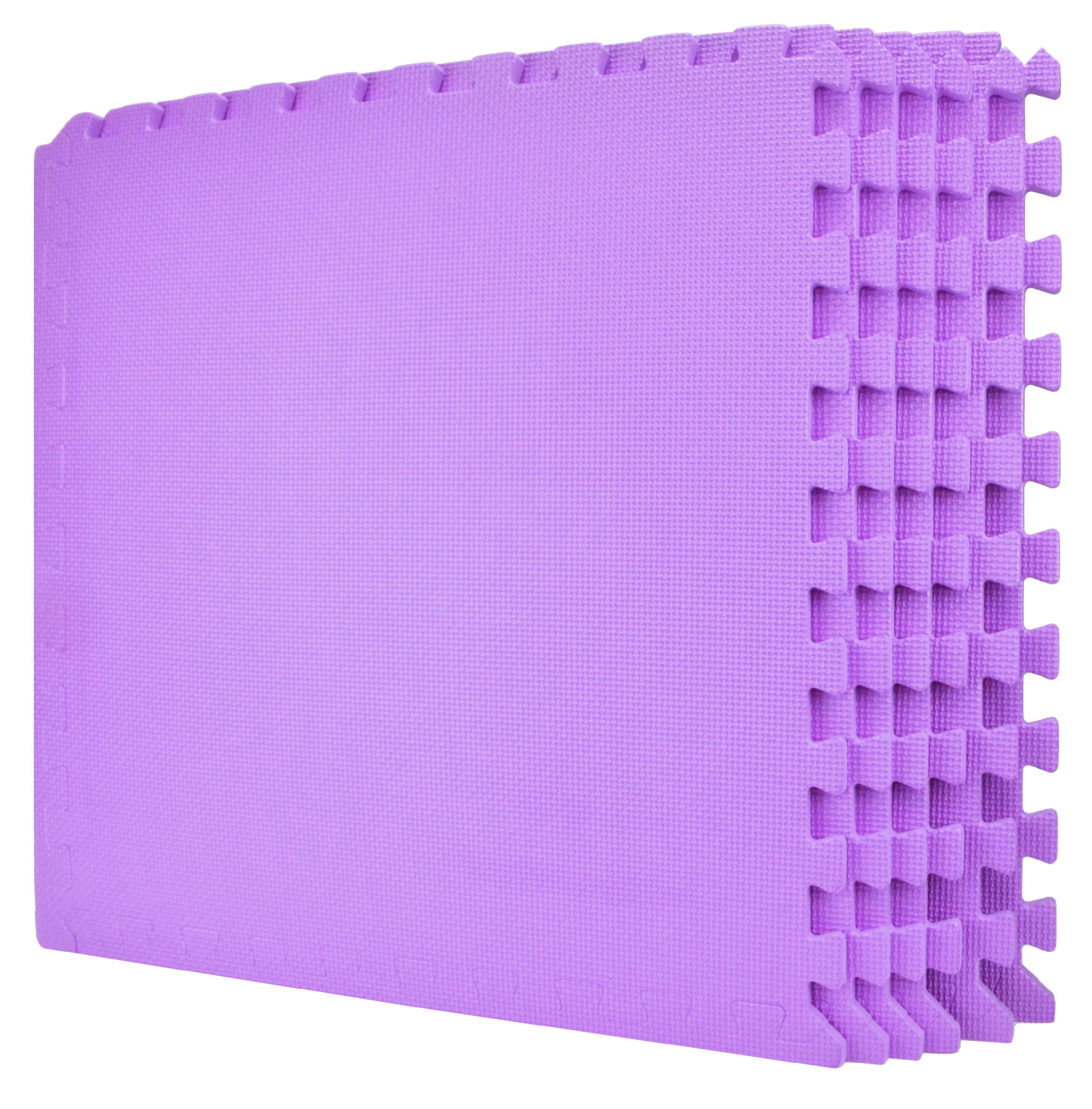 24 square feet classroom gym 24 inch pink puzzle mats eva foam top safety rated