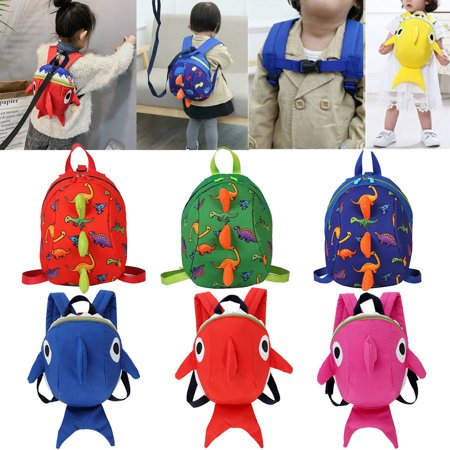 Toddler Baby Boy Girl AntiLost Dinosaur Shark Backpack Safety Walking Harness Leash For