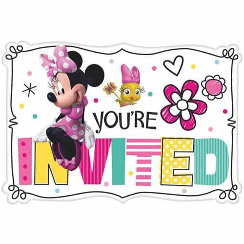 Minnie Mouse 'Happy Helpers' Invitation Set w/ Envelopes (8ct)