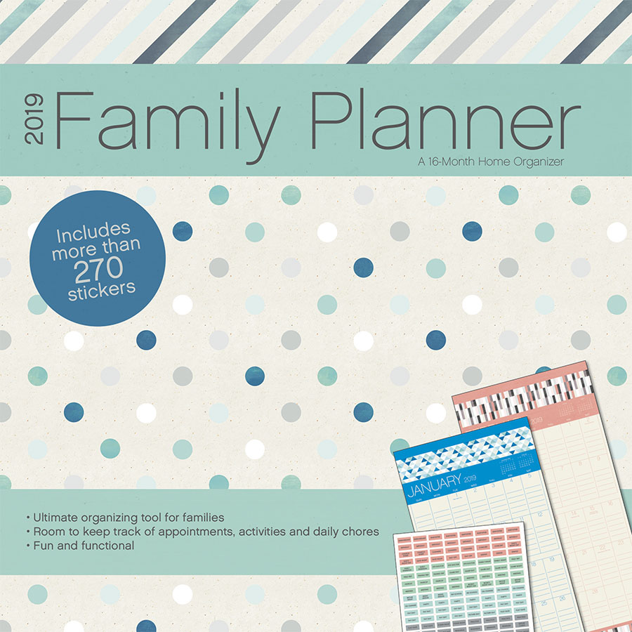 2019 Family Planner Wall Calendar by Trends International