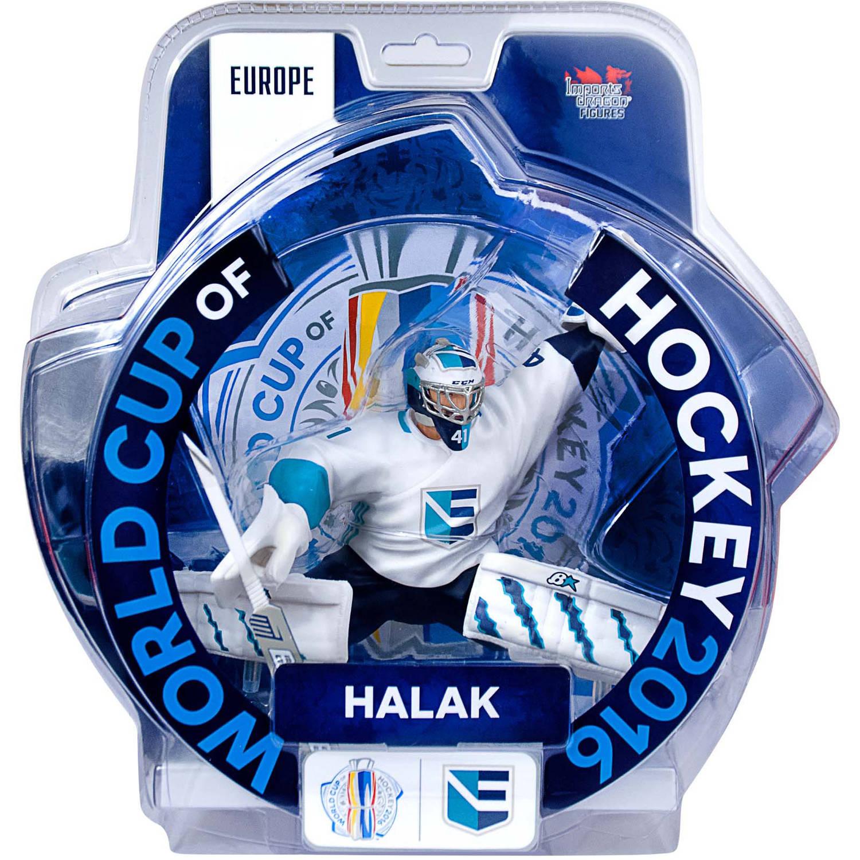 "Imports Dragon Figures ID808R 2016 World Cup of Hockey Team Europe Jaroslav Halak Figure, 6"" ID808R"