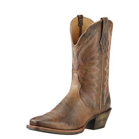Ariat Womens Leather (Ariat Autry Women  Square Toe Leather Brown Western)