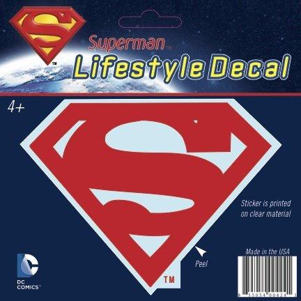 DC Comics Superman Shield Solid Red Logo Window Decal Sticker