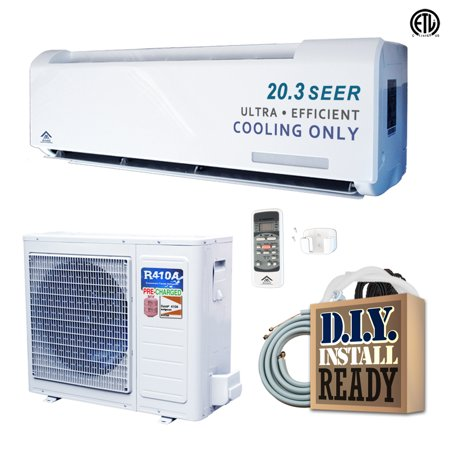 Amvent 18000 BTU Cooling Only Inverter Mini Split Air Conditioner with 25 Foot Installation Kit incl