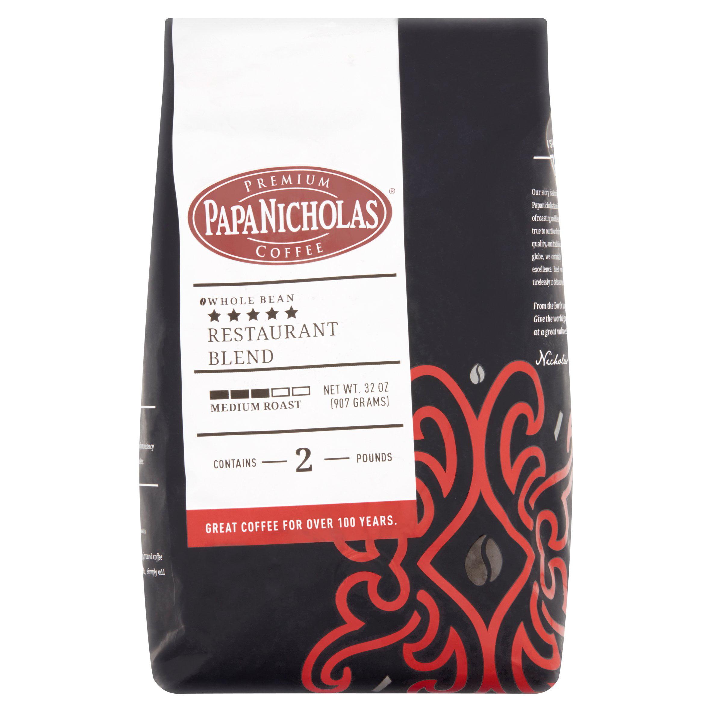 PapaNicholas Coffee 5-Star Restaurant Blend Whole Bean 2lb Bag