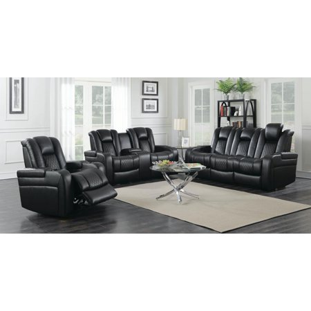 Magnificent Coaster Company 85 Delangelo Power Motion Reclining Sofa Black Gmtry Best Dining Table And Chair Ideas Images Gmtryco
