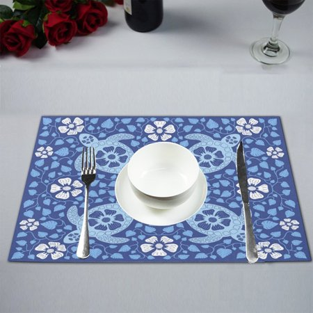 MYPOP Sea Turtle Table Placemat Food Mat 12x18 Inches