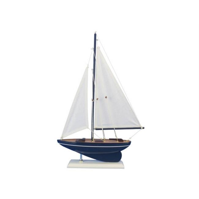 Handcrafted Model Ships sailboat17-106 17 in. Wooden Gone Sailing Model Sailboat by Handcrafted Model Ships