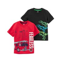 Child Of Mine by Carter's Toddler Boy Short Sleeve Graphic T-Shirts, 2-pack