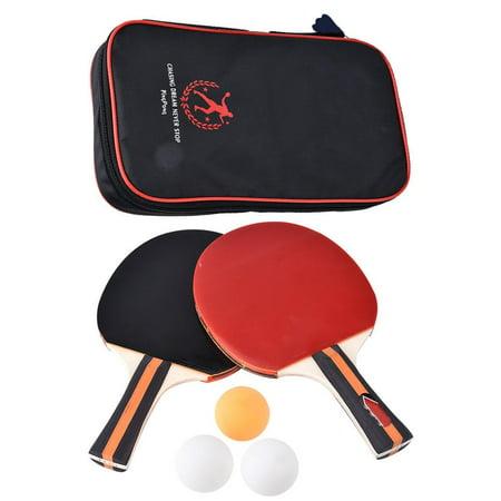 Sonew 2pcs Professional Training Table Bat Tennis Portable Ping Pong Racket Set with Bag & 3 Balls, Ping Pong Racket, Table Tennis Racket - image 8 de 8