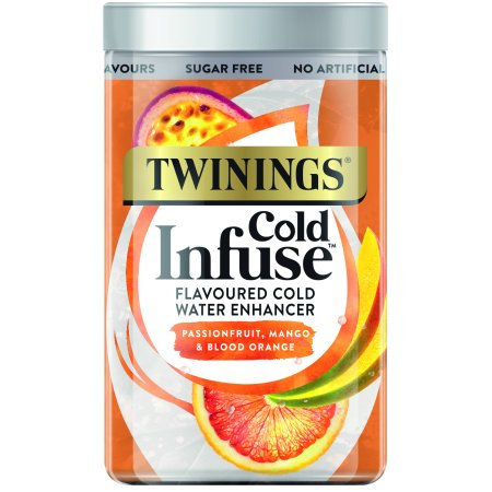 Twinings Cold Infuse Passionfruit, Mango, & Blood Orange, Tea Bags, 12 Ct
