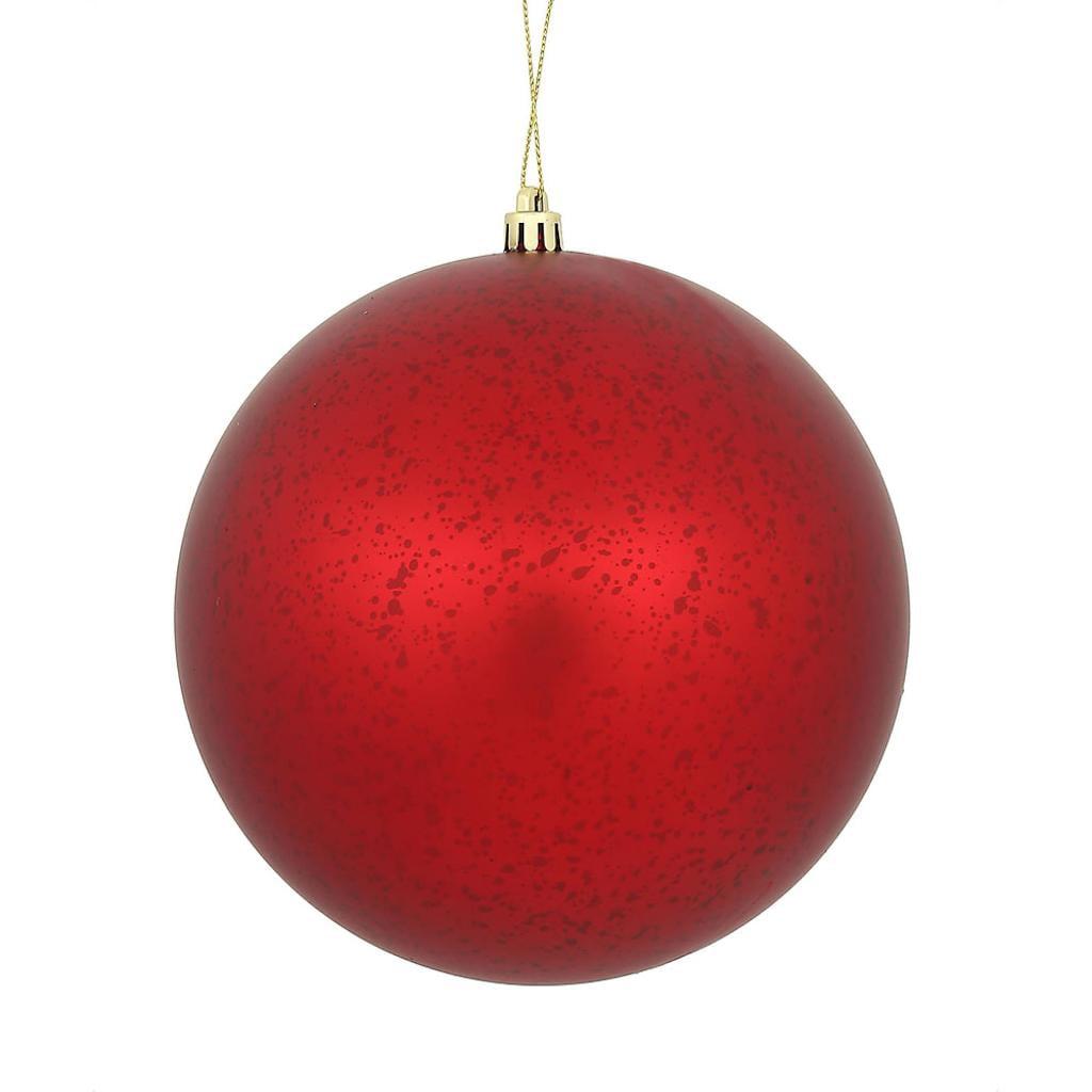 "Vickerman 478783 - 4"" Red Matte Mercury Ball Christmas Tree Ornament (6 pack) (N176103)"