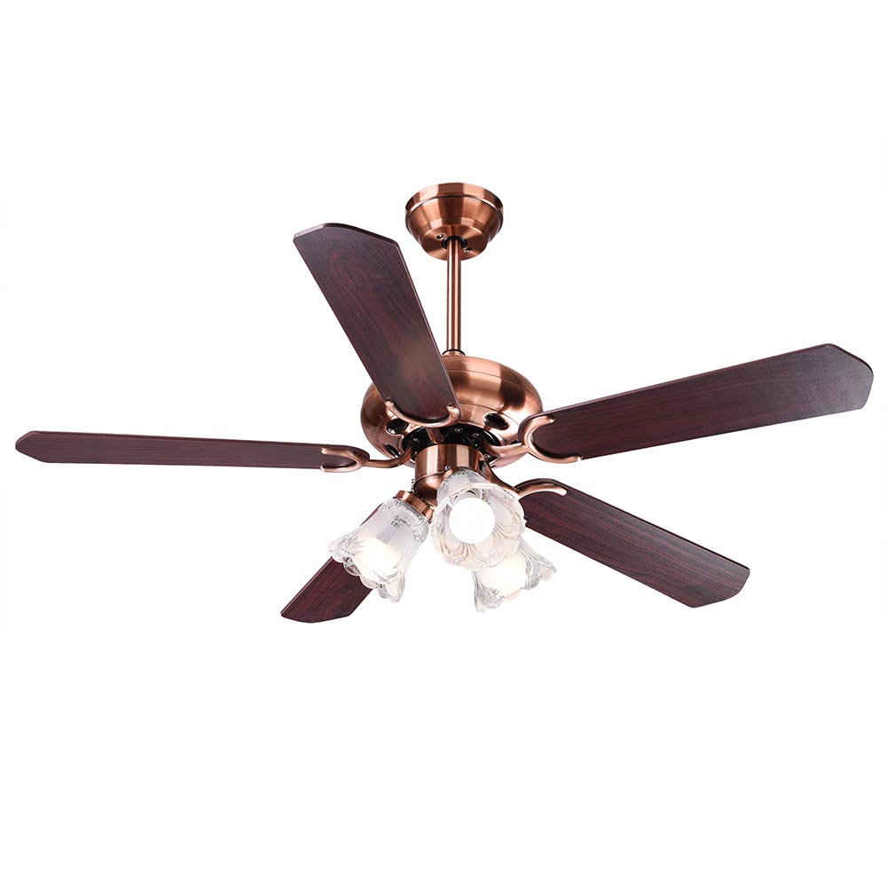 """Yescom 48"""" 52inches 5 Blades Ceiling Fan with Light Kit Antique Copper Bronze... by Yescom"""