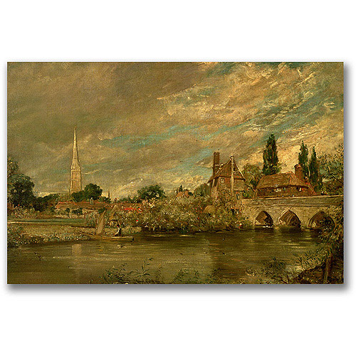 "Trademark Fine Art ""The Bridge of Harnham"" Canvas Wall Art by John Constable"
