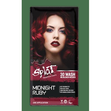 Splat Midnight Ruby Hair Dye, Semi-Permanent Red Hair Color