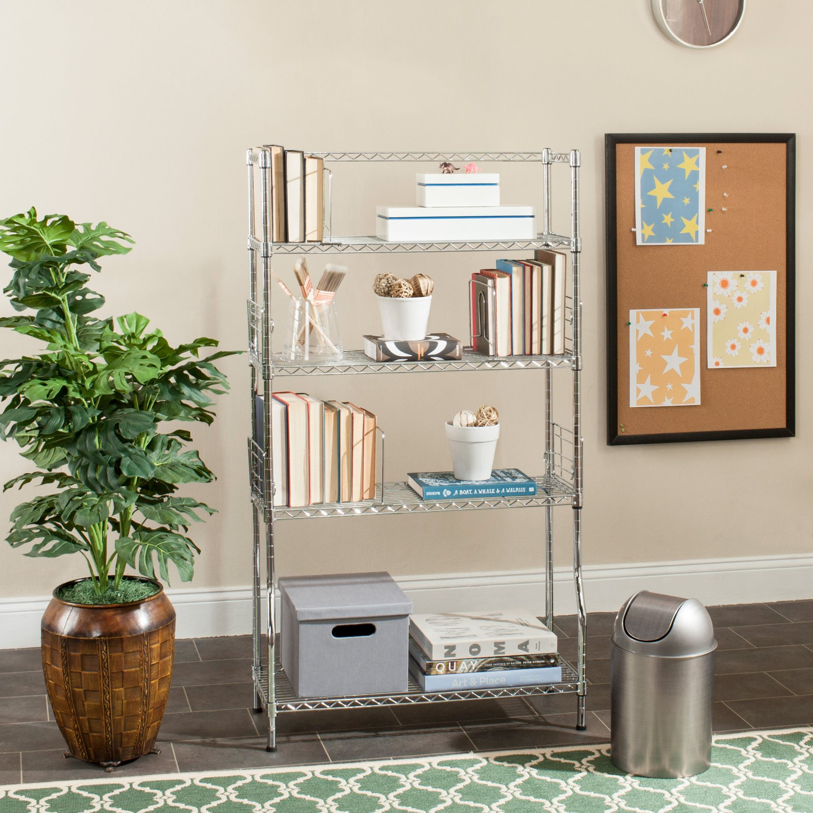 Safavieh Happimess Fernand Chrome Wire Book Rack