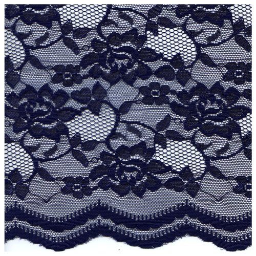 Party Time Lace Fabric by the Yard, Navy