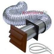 Lambro 1359B Louvered Vent Kit, 12-Piece, For Gas and Electric Dryer Installations