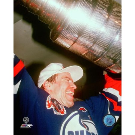 Mark Messier with Stanley Cup Trophy Photo Print