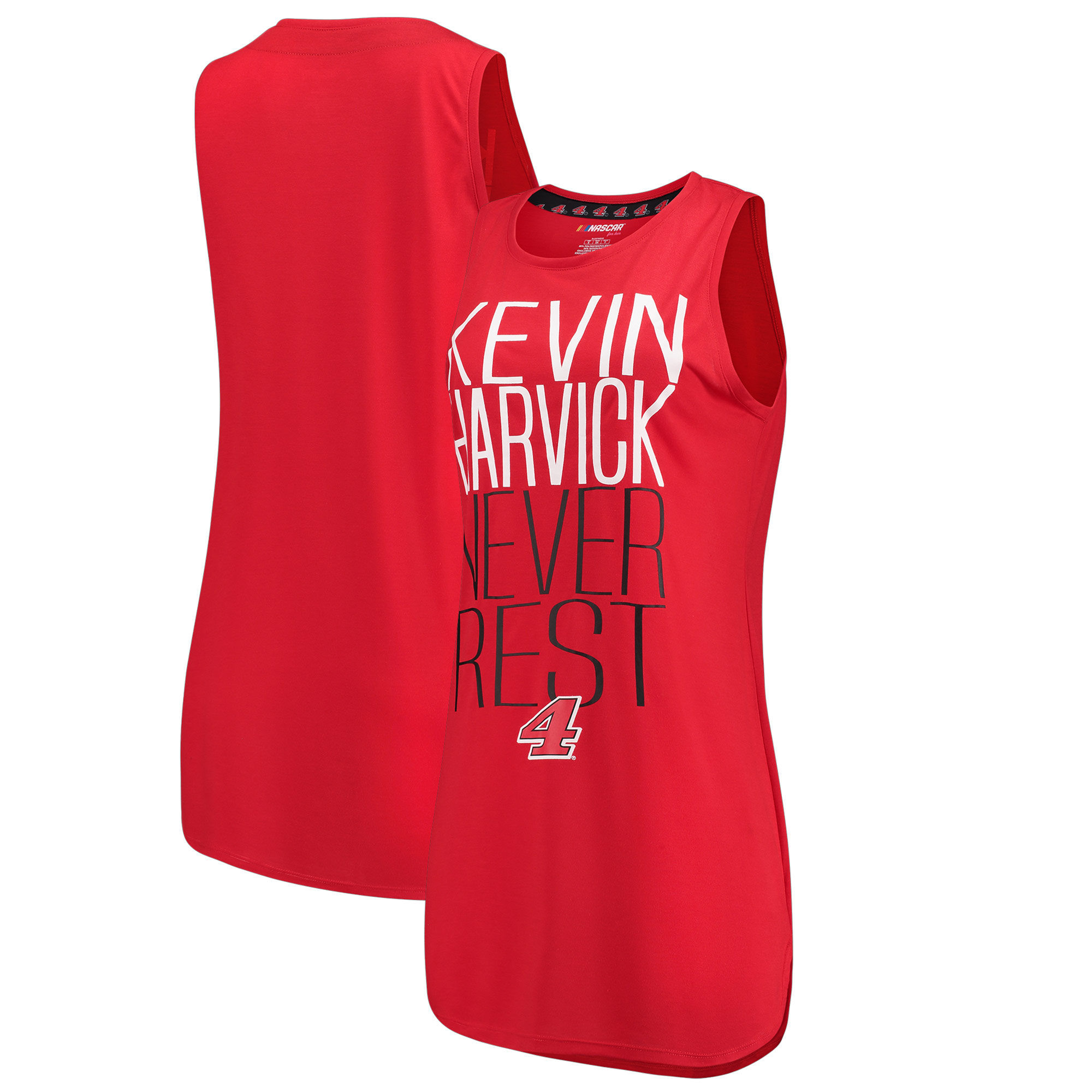 Kevin Harvick Concepts Sport Women's Tempo Sleeveless Nightshirt - Red/Black