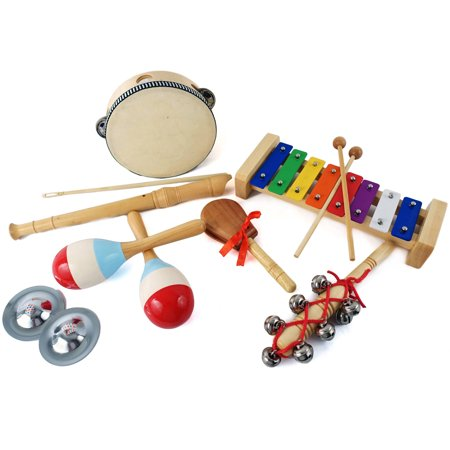 GP Percussion GPBXPB 7-Piece Percussion Box Set, Bell