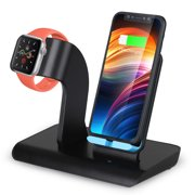 EEEKit Fast Wireless Charger, Qi Wireless Charging Pad Stand Compatible for iPhone 11 Pro Max Xs Xr 8 Galaxy S10+ S9+ Note 10, Watch Charging Station Dock Compatible for Apple Watch Series 5/4/3/2/1