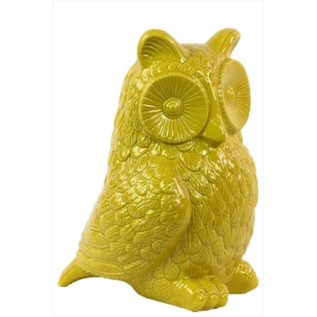 Urban Trend 73085 10.43 in. H Ceramic Owl Yellow