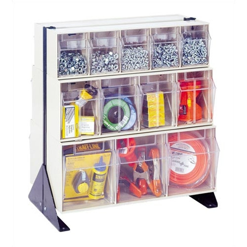 Quantum 28u0027u0027 Double Sided Floor Stand Storage Unit With Tip Out Bins