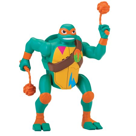 Rise of the Teenage Mutant Ninja Turtle Michaelangelo Popup Attack Deluxe Figure - Ninja Turtle Colors