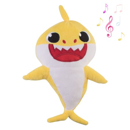 2019 Baby Shark Plush Singing Toy Music Doll English Song and LED Light Stuffed Toy for Kids Gift/Birthday Gift