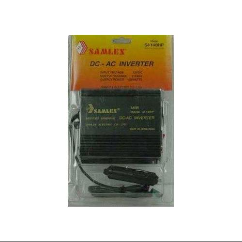 SAMLEX - DC TO AC 140 WATTS (300 WATTS PEAK) POWER INVERTER WITH 1 AC OUTLET & CIGARETTE PLUG, LOW B
