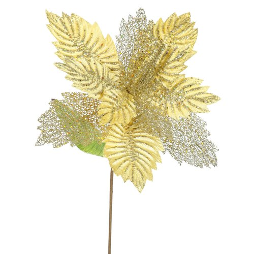 The Holiday Aisle Poinsettia Decorative Christmas Floral (Set of 6)