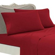 Egyptian Bedding Luxurious Rayon from Bamboo Sheet Set - King Size Red 800 Thread Count Cotton Sheet Set (Deep Pocket)