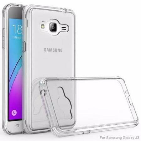 premium selection 687bb 5882d Samsung Galaxy J3/J3V Case   Express Prime Case  Galaxy Sky Case   Amp  Prime   Galaxy Sol Case  Slim EZ Grip Armor Bumper Case - Clear