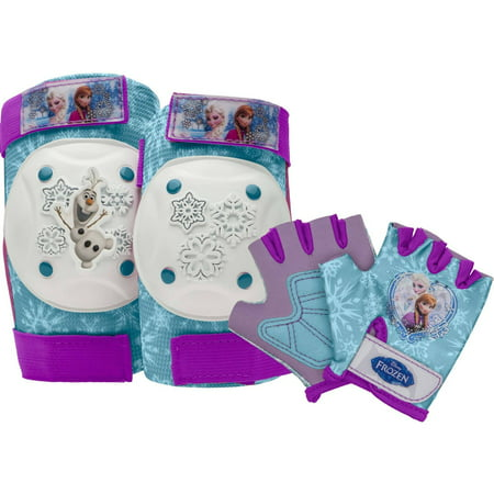 Bell Disney Frozen Protective Pad and Glove Set, Purple/Aqua ()
