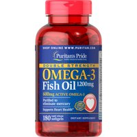 Puritan's Pride Double Strength Omega-3 Fish Oil 1200 mg 180 Softgels