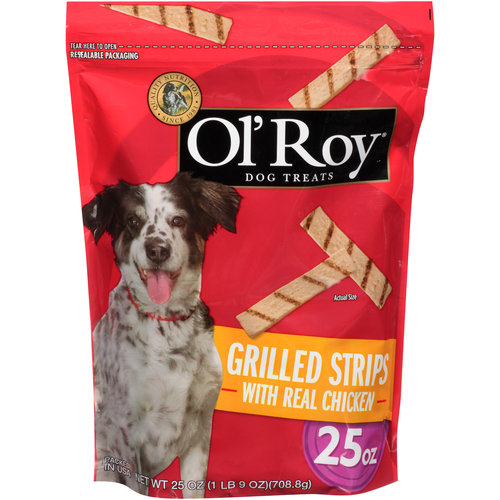 Ol' Roy Grilled Strips With Real Chicken Dog Treats, 25-Ounce