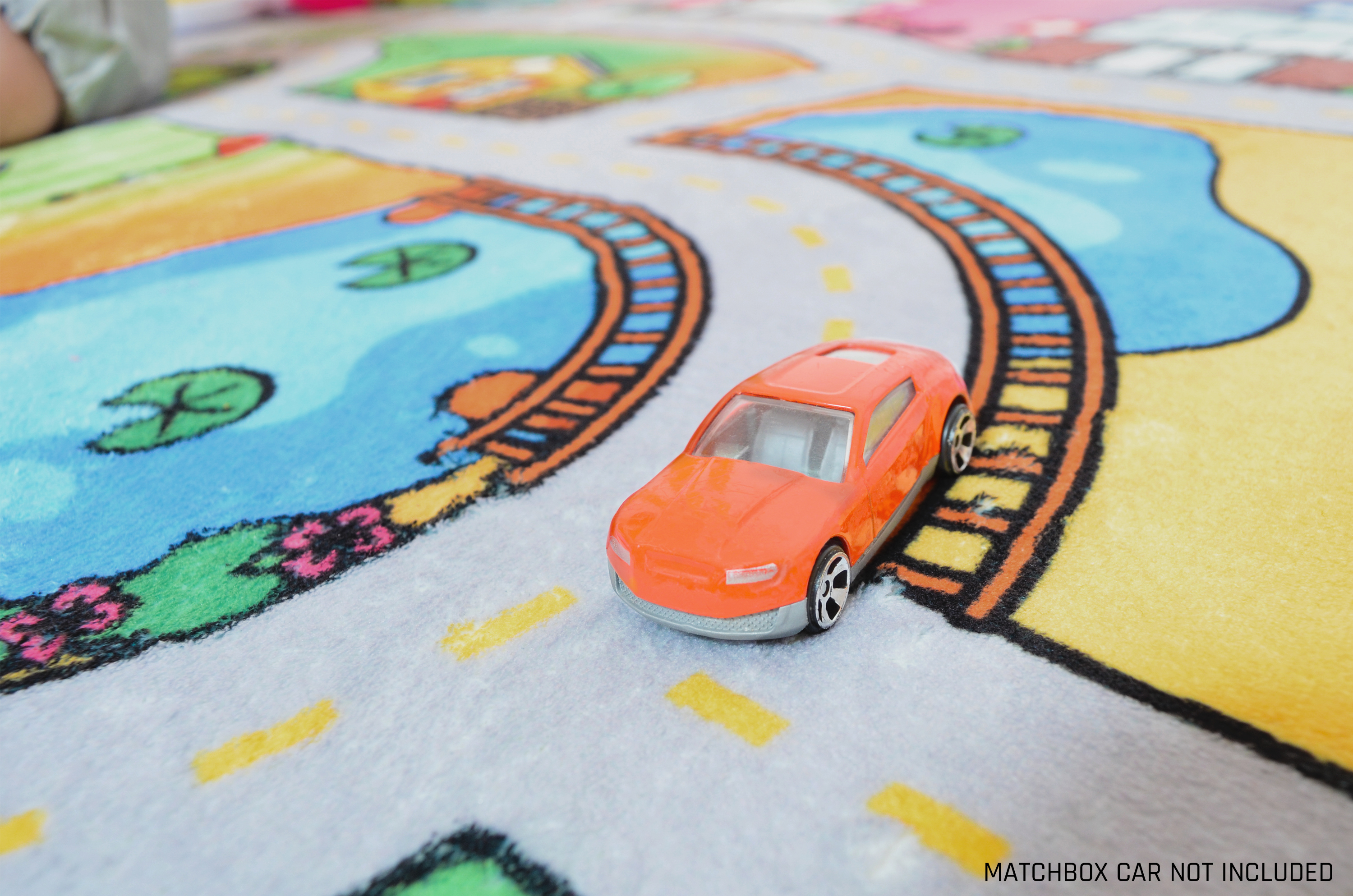 Milliard Car Rug Road Play Mat Jumbo 39 X 79 Luxurious Memory