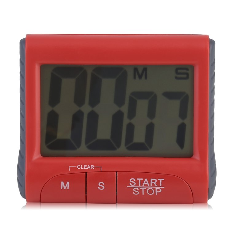 Large LCD Digital Kitchen Timer Count-Down Up Clock Loud Alarm