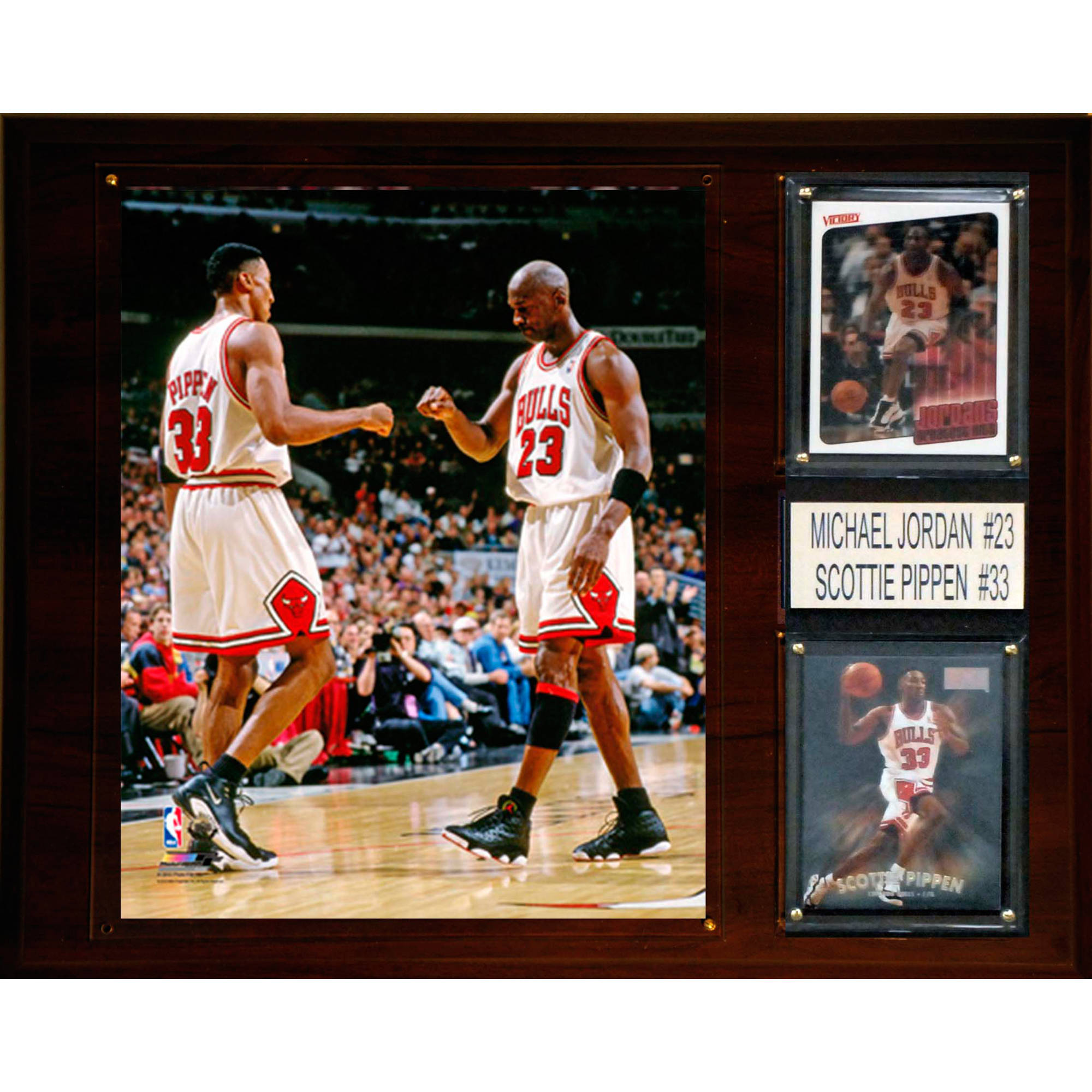 C&I Collectables NBA 12x15 Michael Jordan, Scottie Pippen Chicago Bulls Player Plaque
