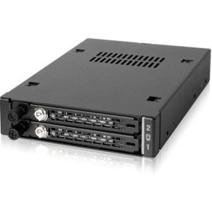 "ICY DOCK ToughArmor EX MB492SKL-B Industrial Full Metal 2 x 2.5"" SATA/SAS HDD and SSD Mobile Rack"
