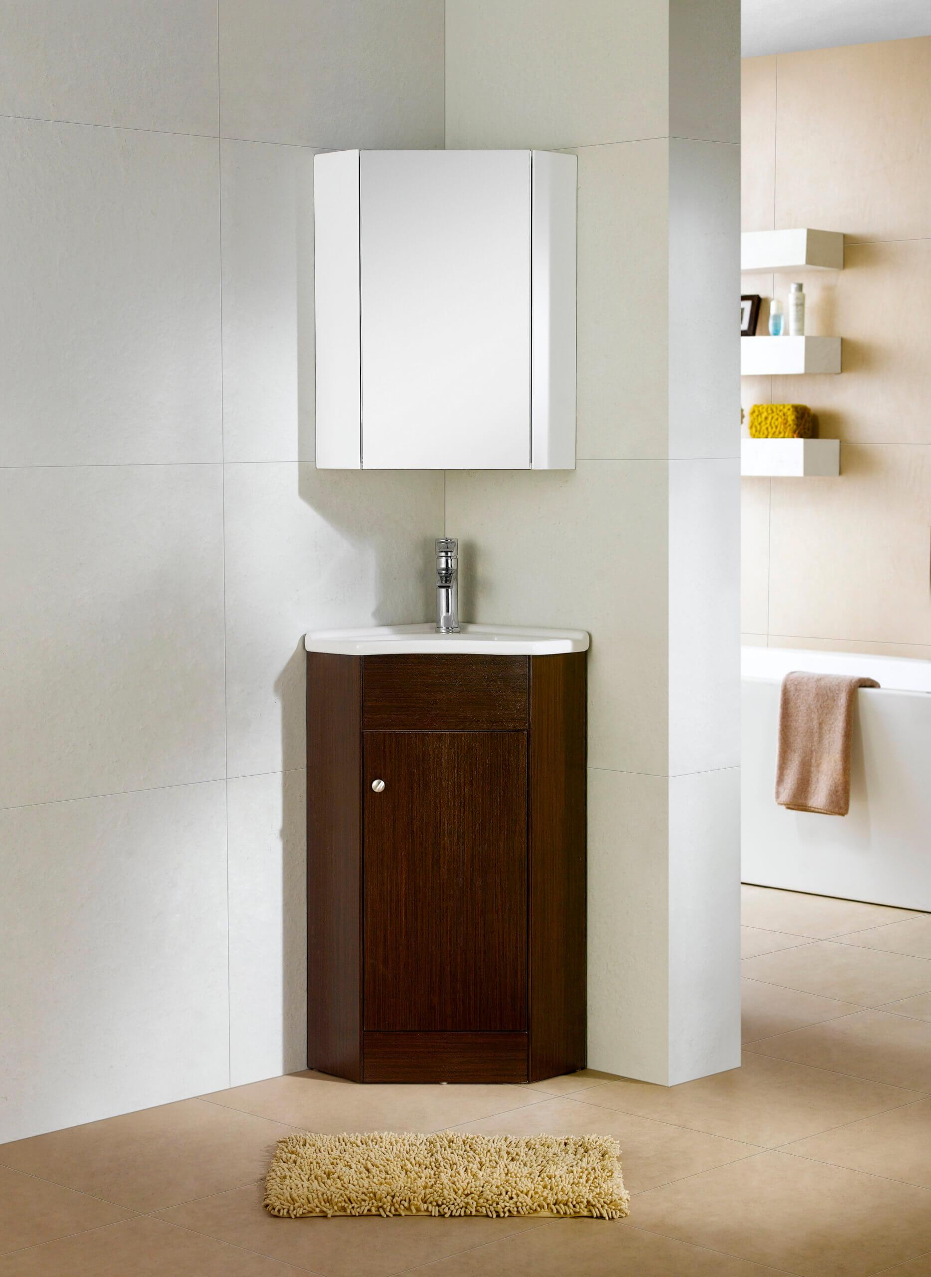 Fine Fixtures Corner Bathroom Vanity And Sink And Medicine Cabinet Wenge Englewood Collection Walmart Com Walmart Com