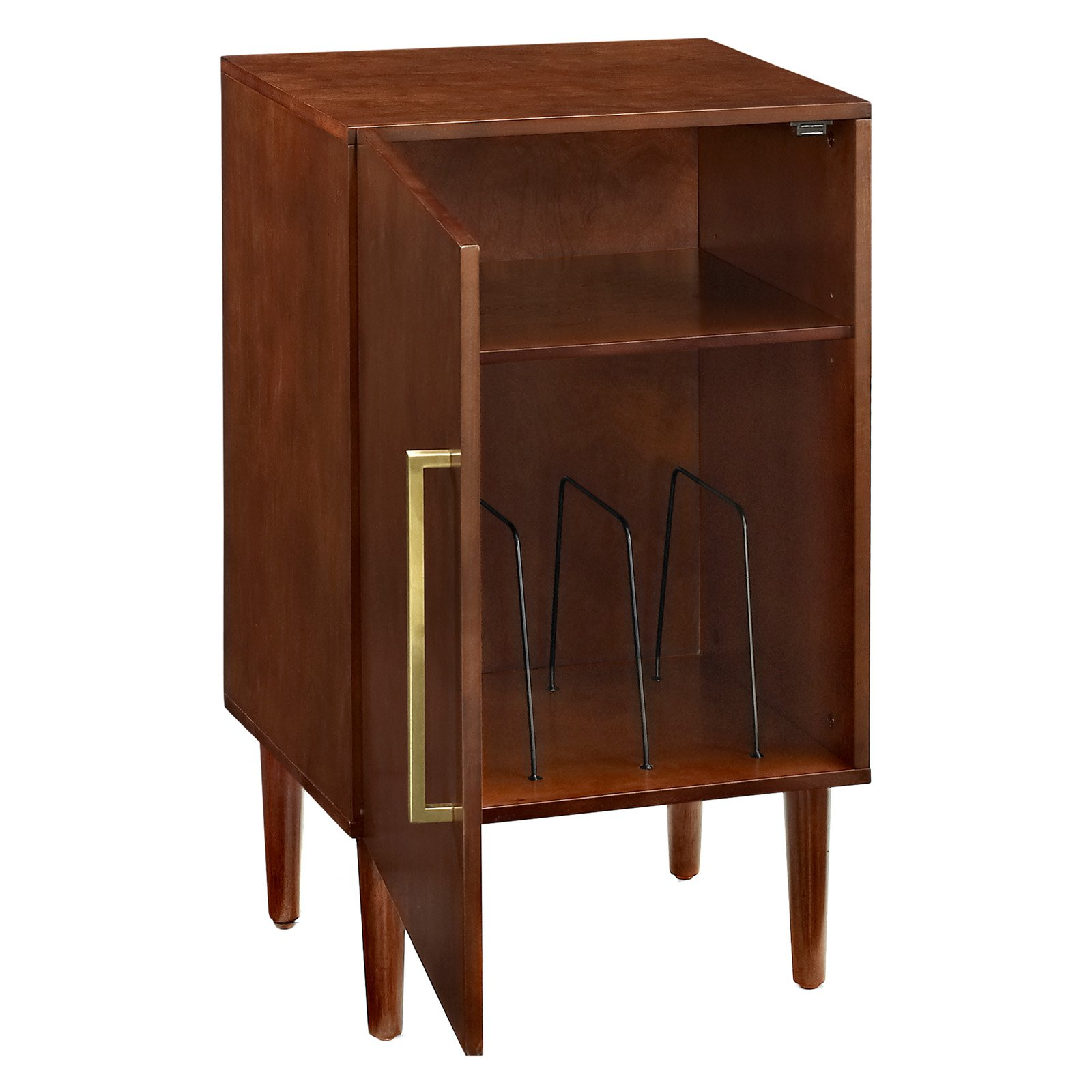 EVERETT RECORD PLAYER STAND IN MAHOGANY FINISH
